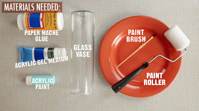 Materials Needed Glass Vases