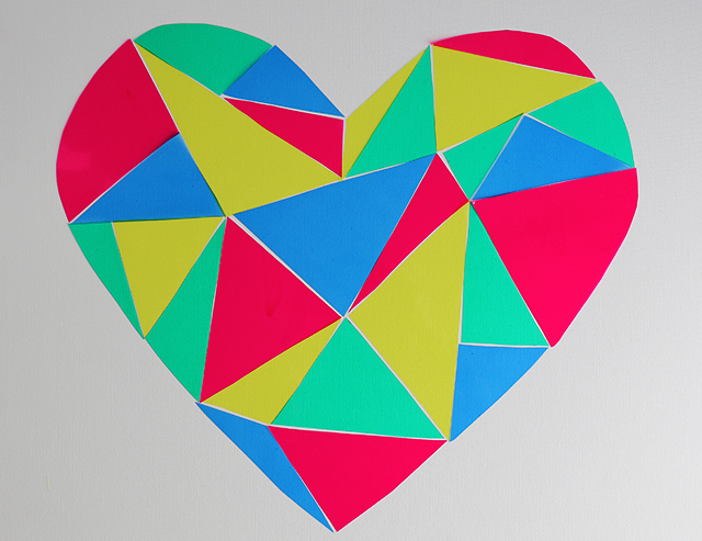 Geometric Heart Stained Glass DIY-5