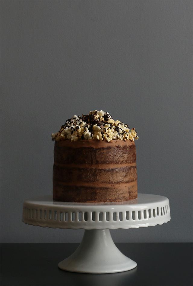 Popcorn Chocolate Cake