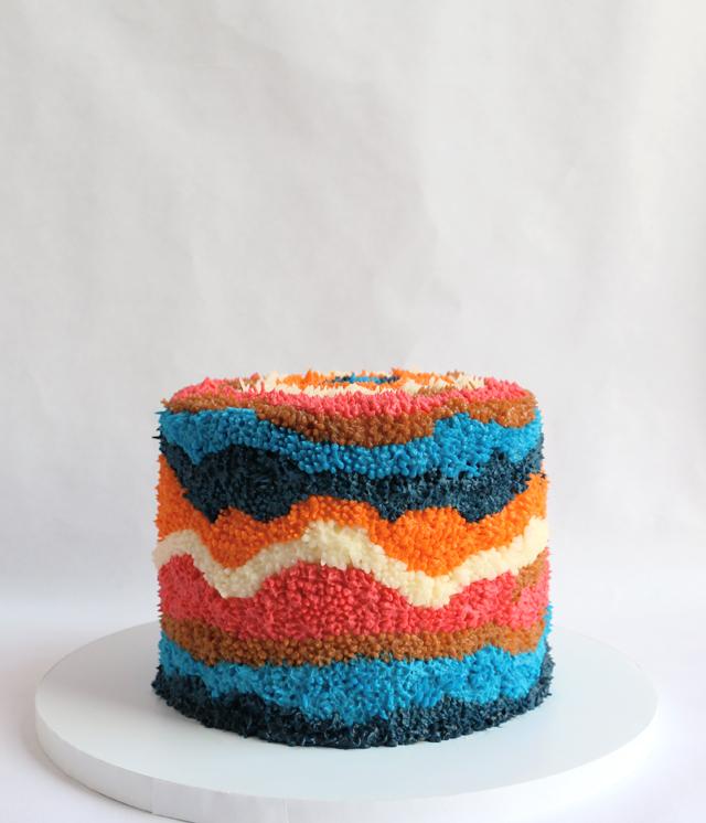 Textile Inspired Cake