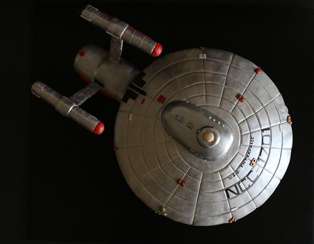 Star Trek Starship Enterprise Cake 3