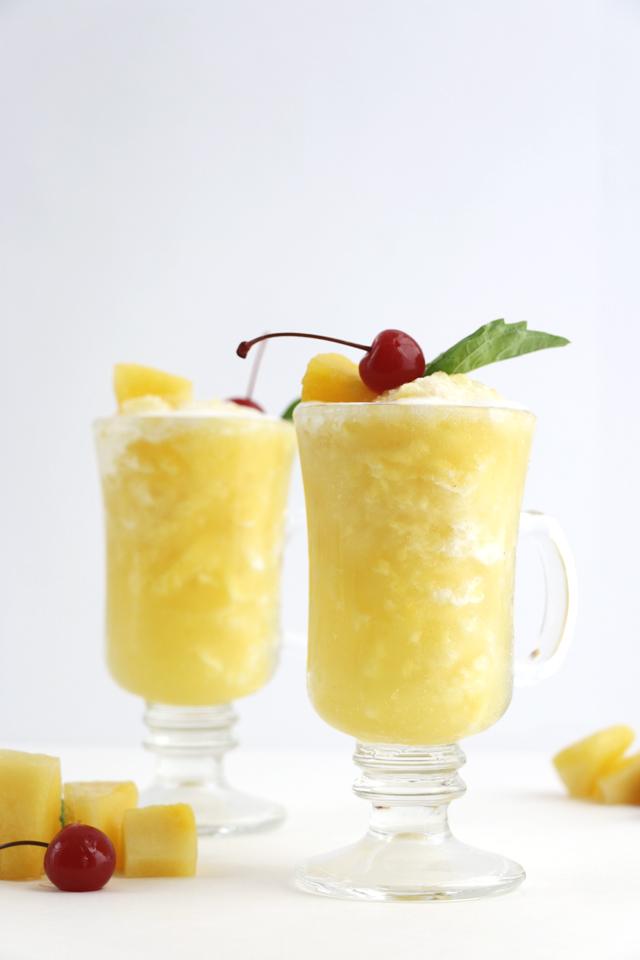 Pineapple Juice Slushie