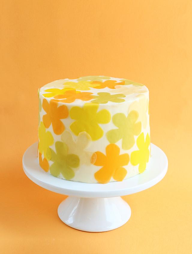 Soy Paper Flower Power Cake