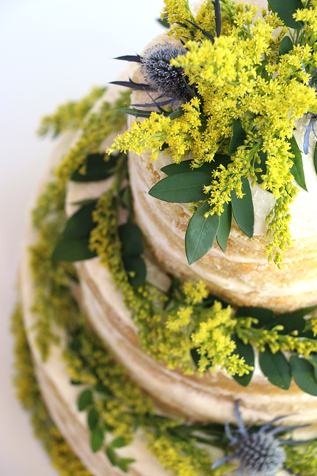 Summer Golden Naked Cake