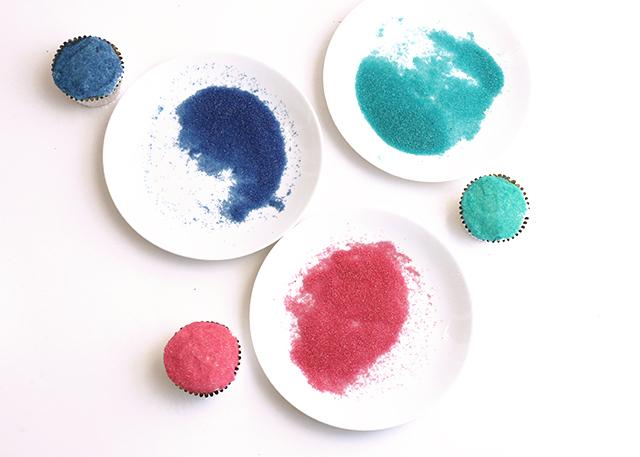 Sanding Sugar Cupcakes
