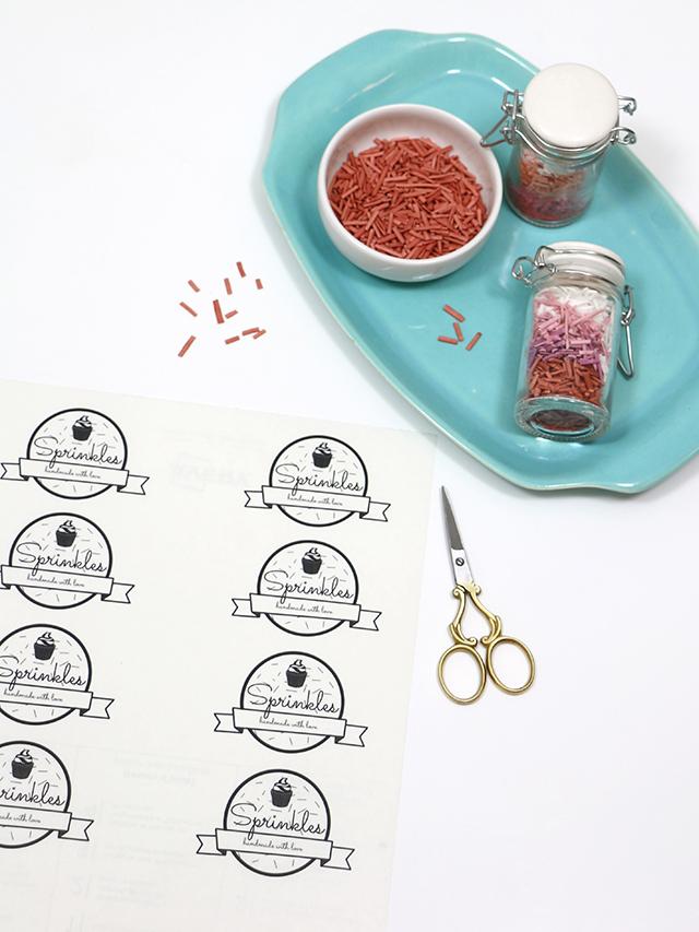 DIY Sprinkles Labels