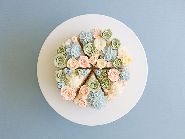Flower Cookie Cakes