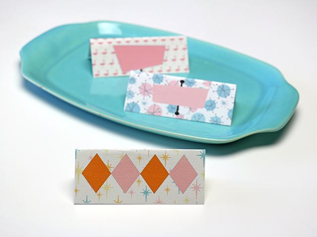 Mid Century Inspired Dessert Cards