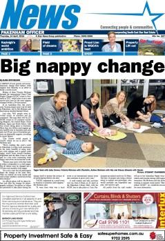 Big nappy change