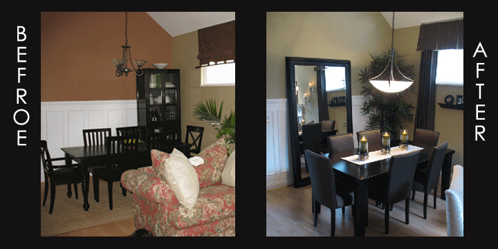 Dining Room Before After Alanas Touch Innovative