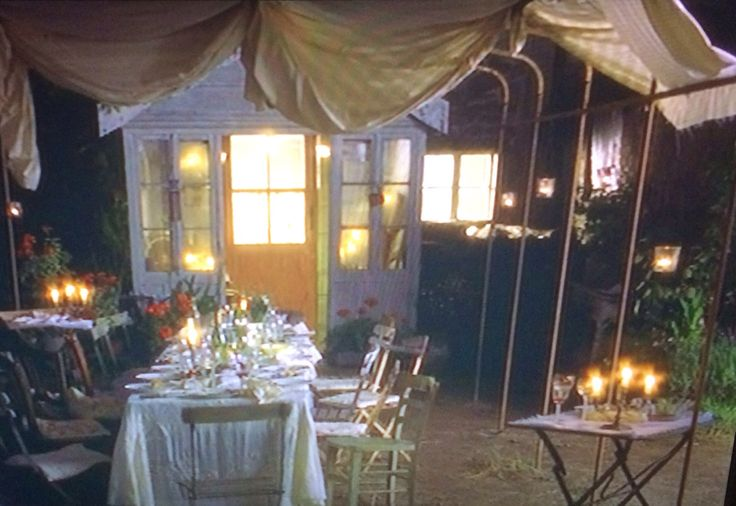 outdoor dinner party from Chocolat