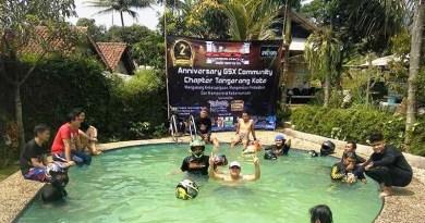 Unik! GCN Tangerang Kota Pilih Ketua Barunya di Kolam Renang