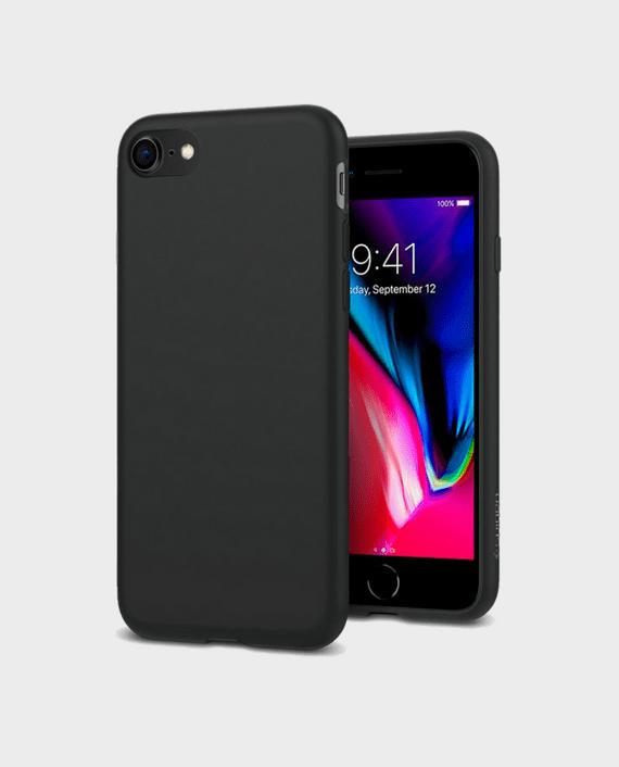 Spigen iPhone 8 Case Liquid Crystal Matte Black in Qatar and Doha