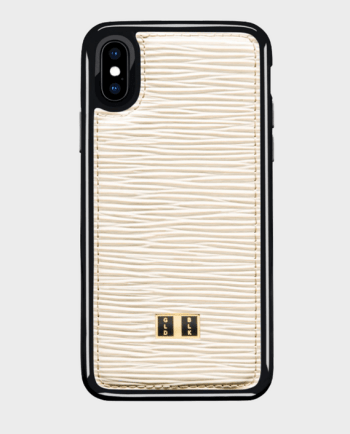 Gold Black iPhone X Case Unico White in Qatar