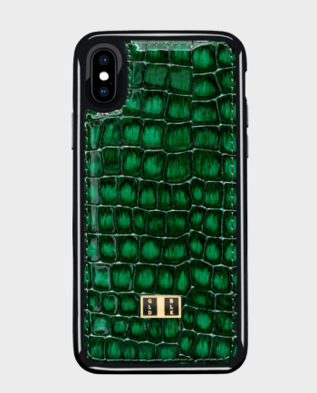 Gold Black iPhone X Case Milano Green in Qatar