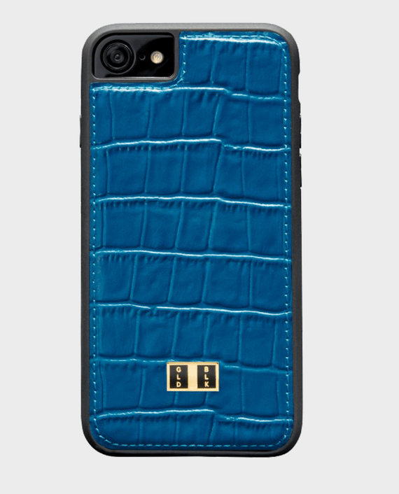 Gold Black iPhone 8 Croco Blue in Qatar