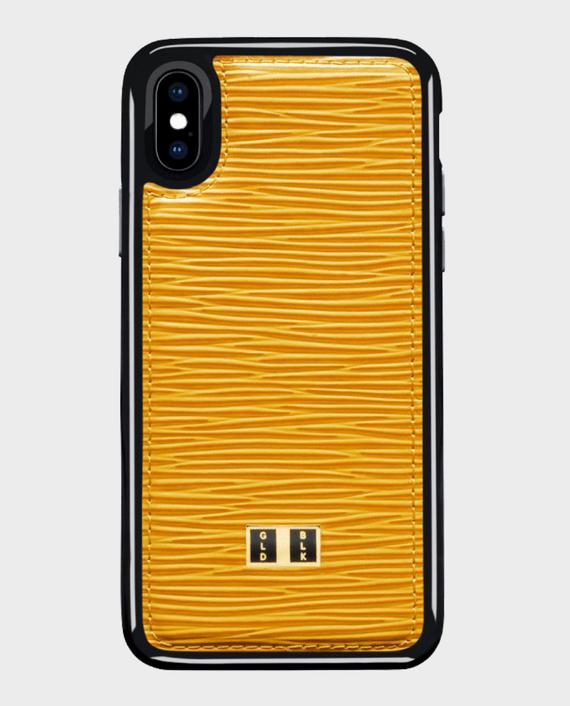 Gold Black iPhone X Case Unico Yellow in Qatar