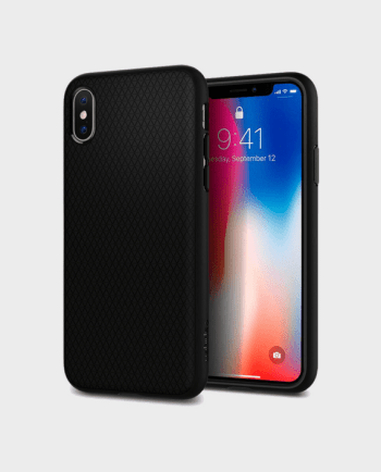 Spigen iPhone X Case Liquid Air Matte Black in Qatar and Doha