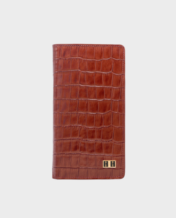Gold Black Smart Wallet Billion Croco Brown in Qatar