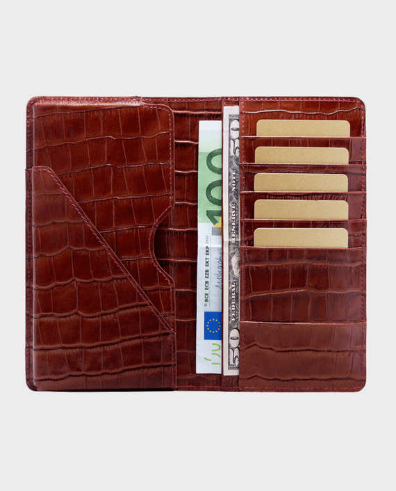 Gold Black Smart Wallet Billion Croco Brown