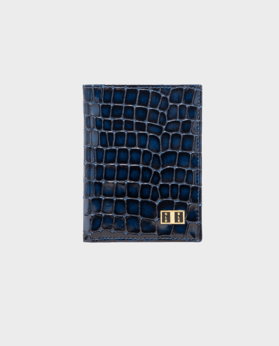 Goldblack Bifold Slim Wallet Milano Blue in Qatar