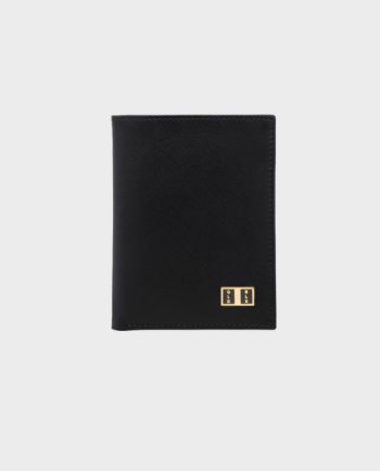Goldblack Bifold Slim Wallet Saffiano Black in Qatar