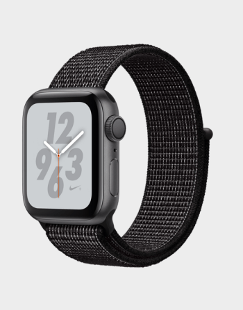 Apple Watch Nike+ Series 4 GPS 44mm Space Grey Black Nike Sport Loop in Qatar