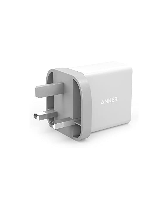 Anker 24W 2-Port USB Charging Adaptor UK-White