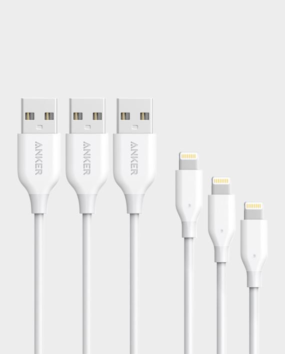 Anker Powerline + Lightning Cable 3FT - White in Qatar