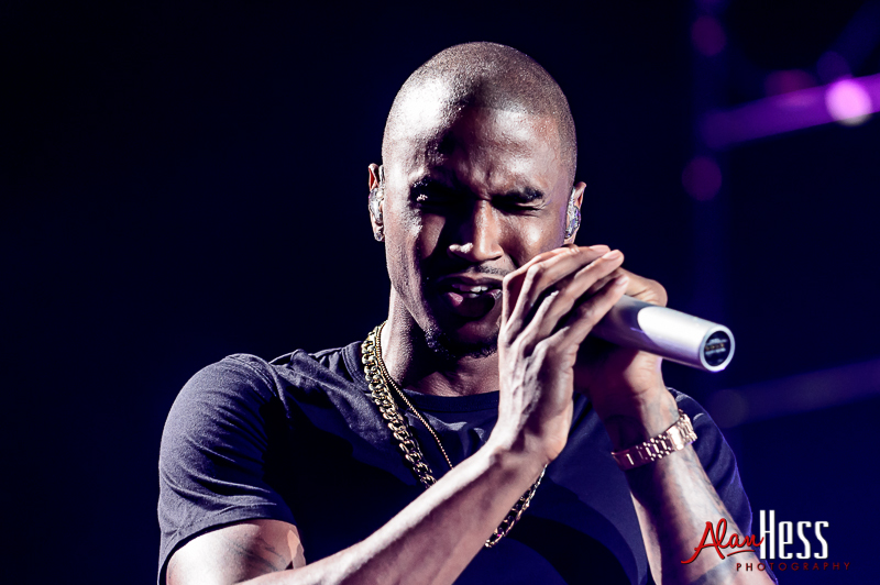 """Trey Songz performs during his """"Chapter 5 World Tour""""  at Valley View Casino Center"""