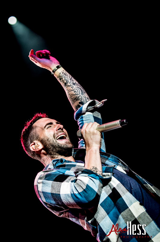 Adam Levine  of Maroon 5 performs at the Channel 933 Summer Kick