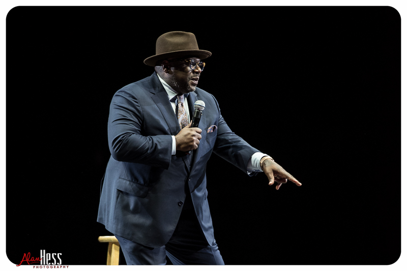 Cedric the Entertainer performs during the Comedy Get Down Tour at the Valley View Casino Center on 1/30/2016 in San Diego, CA
