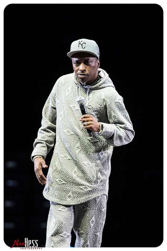 Eddie Griffin performs during the Comedy Get Down Tour at the Valley View Casino Center on 1/30/2016 in San Diego, CA