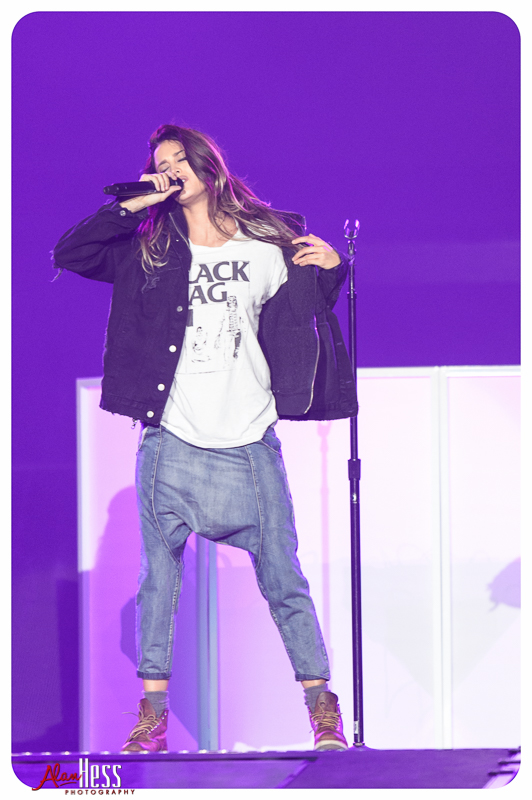 Moxie Raia opens for Justin Bieber during his PURPOSE World Tour at the Valley View Casino Center in San Diego, CA, on March 29, 2016