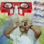 Folding VR 3D glasses