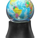 LED lighted rotating globe