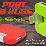 4 port USB hubs