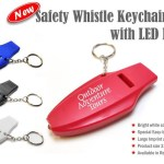 safety whistle keychain with LED light