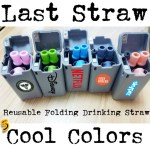 reusable folding drinking straw
