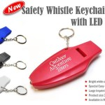 safety whistle keychain w LED