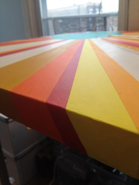 Sunburst in progress