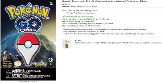 pokemon go, pokemon go releae date, pokemon go accessory price canada