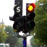 Public transit traffic light in Sweden