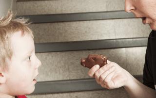 Parent rewarding child