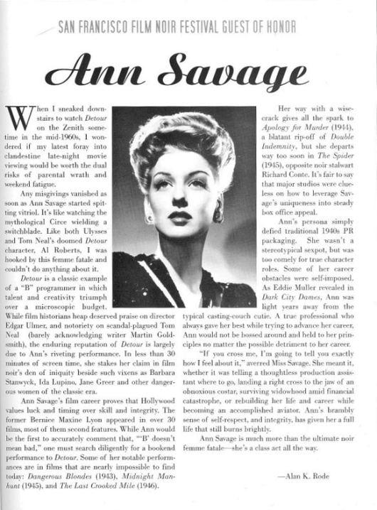 Ann Savage SF-Film-Noir