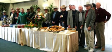 group photo of golden boot award ceremony for Bobby Hoy 2010