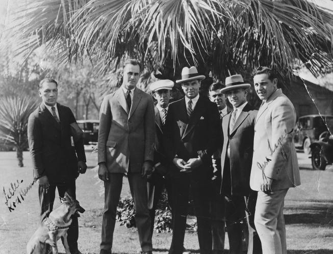 Curtis with Jack Dempsey