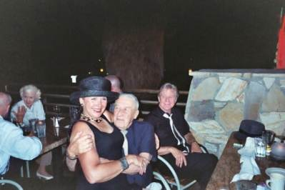 photo of Ann Savage, Mickey Spillane, and Art Lyons