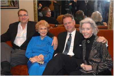 Alan K. Rode with Joan Leslie, Eddie Muller, and Marsha Hunt