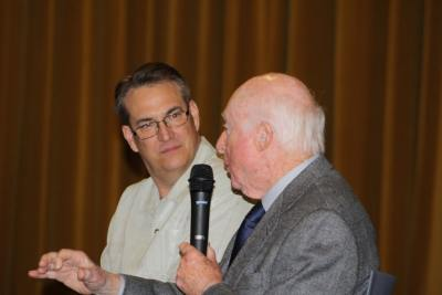 Norman Lloyd and Alan K. Rode On Stage